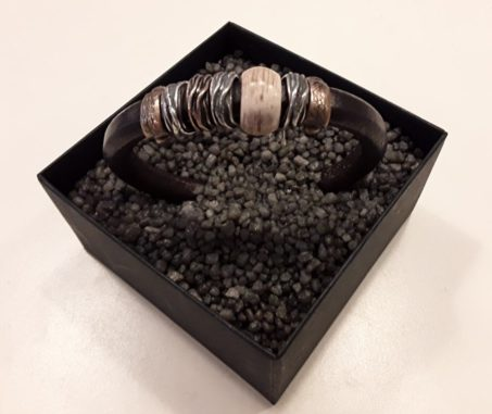 Armband von Platadepalo - Leder mit Silber, Bronze und Horn.
